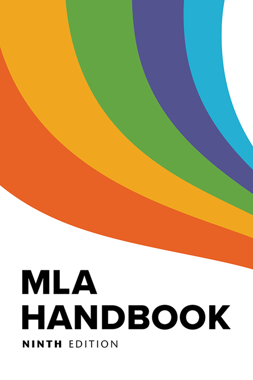 MLA Handbook, Ninth Ed. book cover