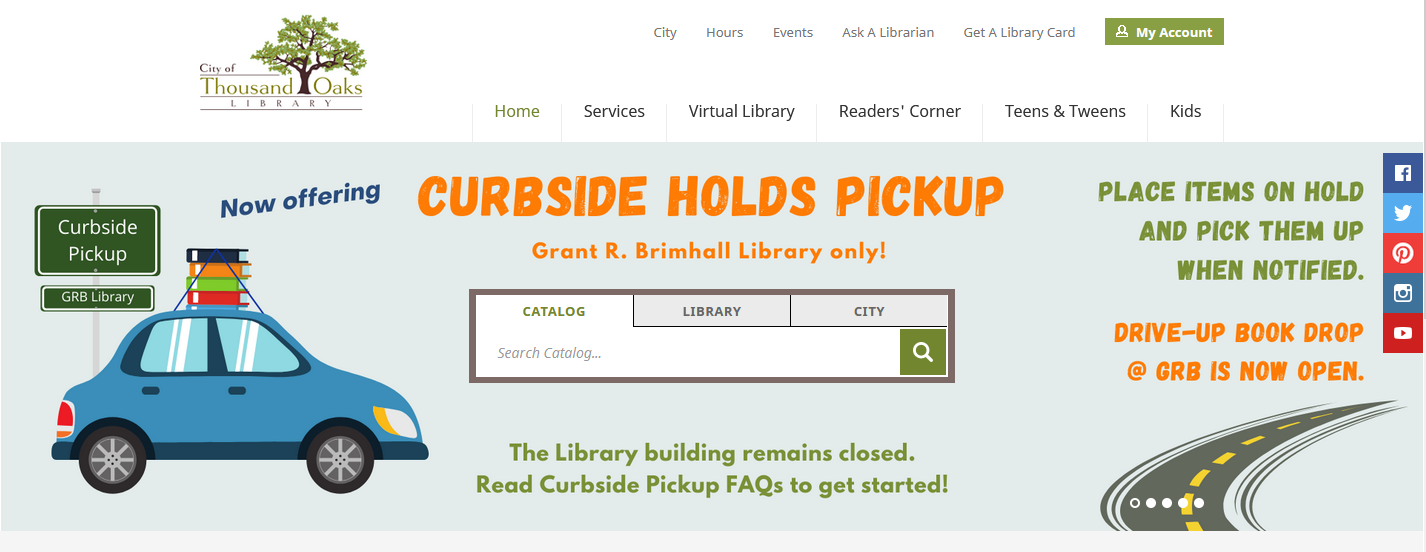 Thousand Oaks Library Website