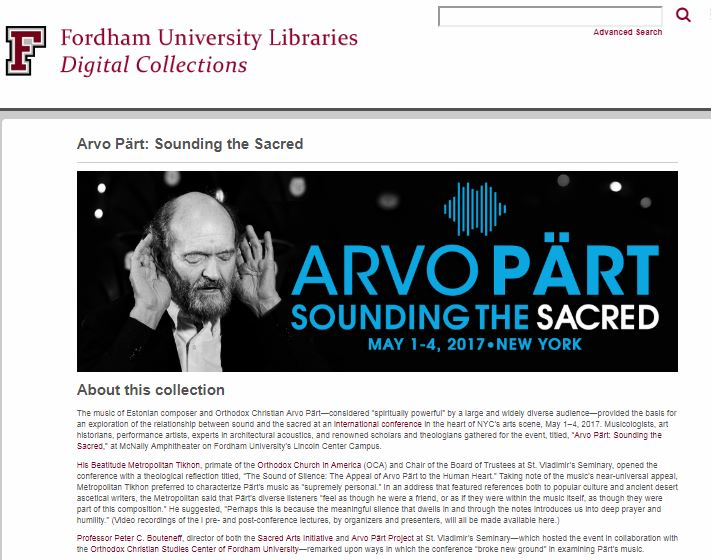 Arvo Part Sounding the Sacred collection