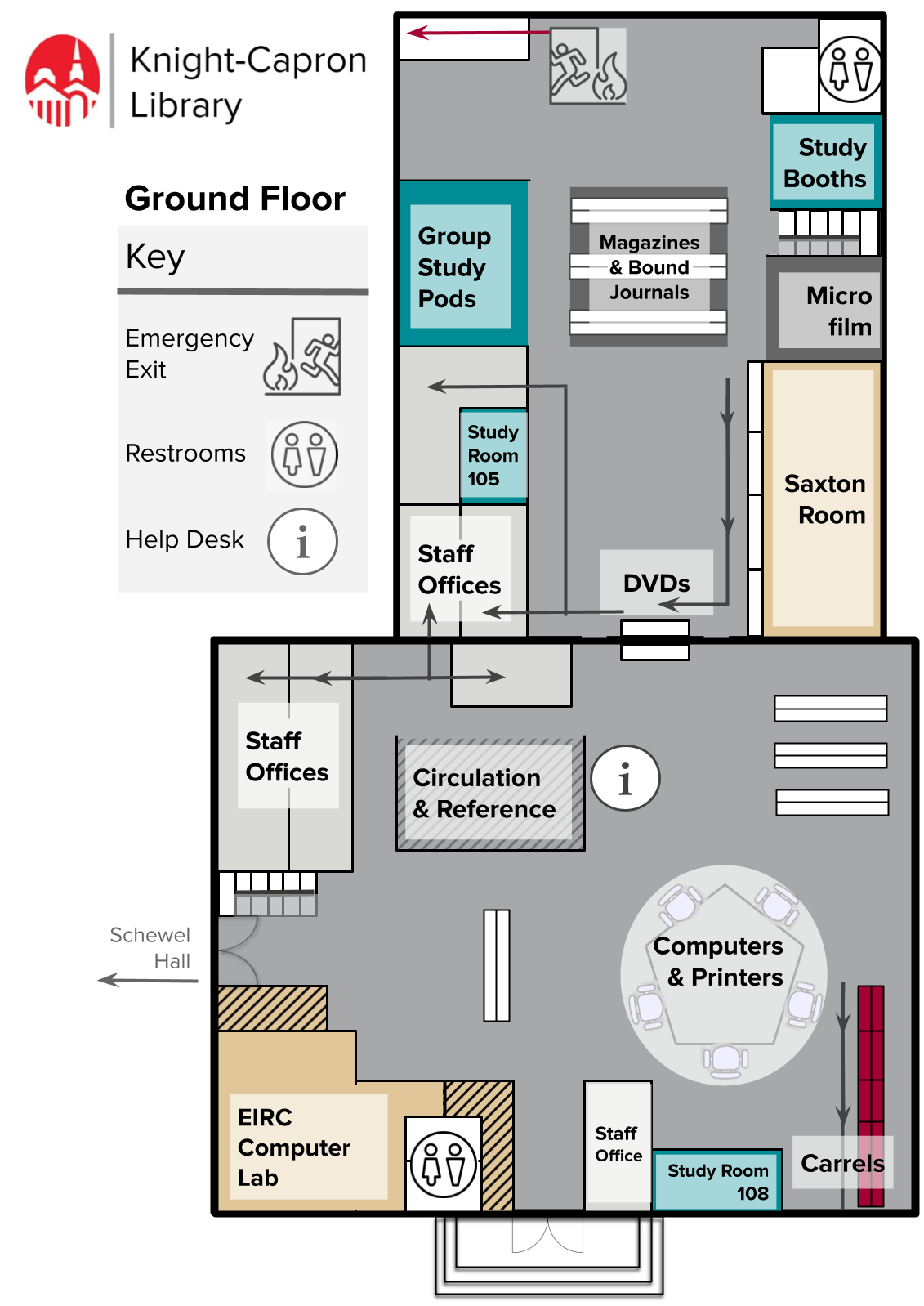 Library Ground Floor Map