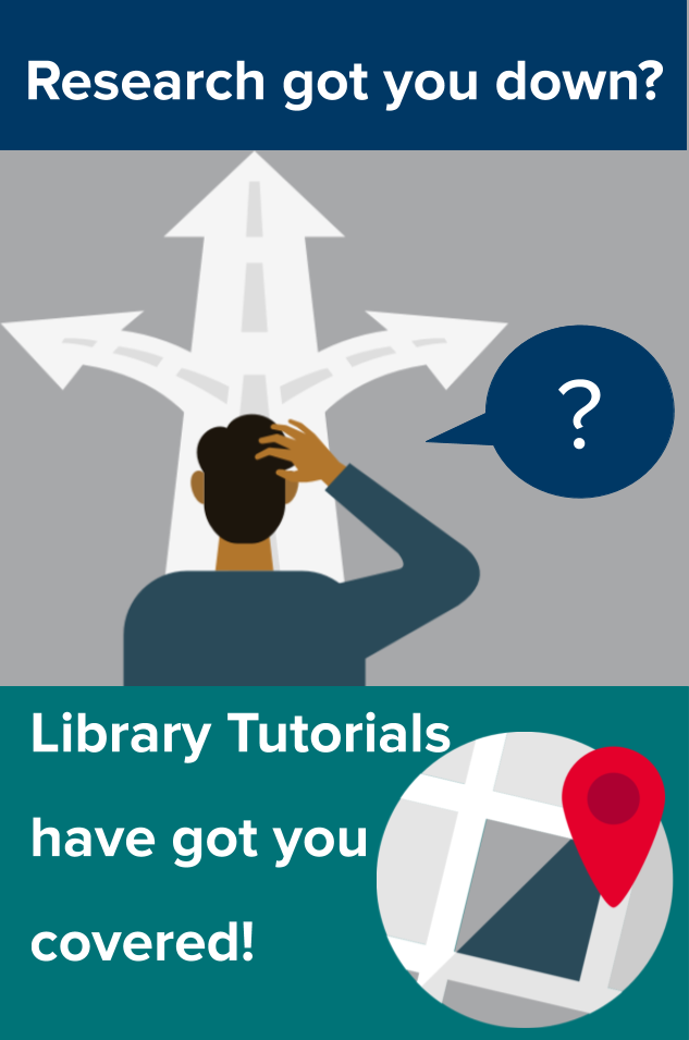 Research got you down? Library tutorials have got you covered!