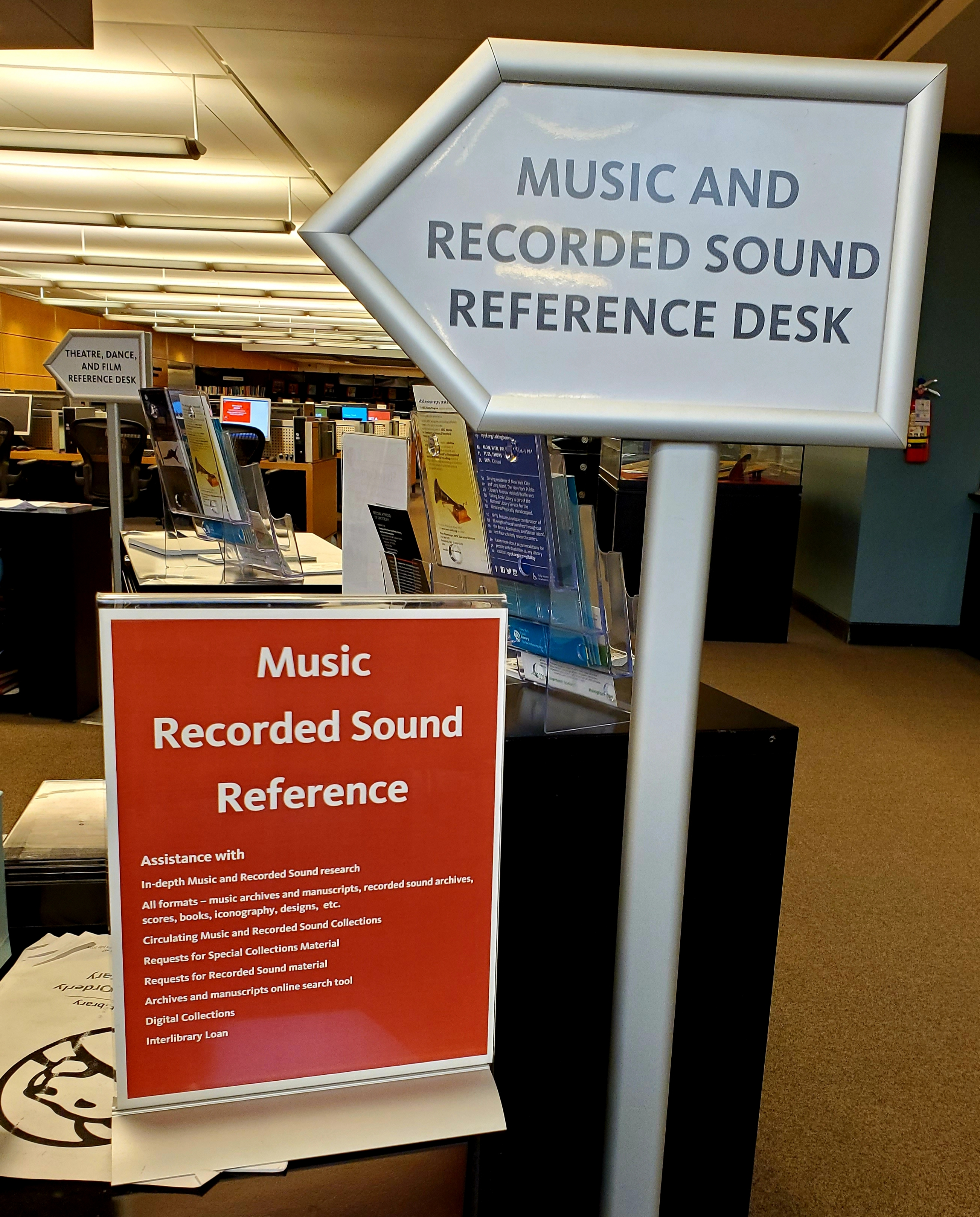 Music & Recorded Sound Reference Signage