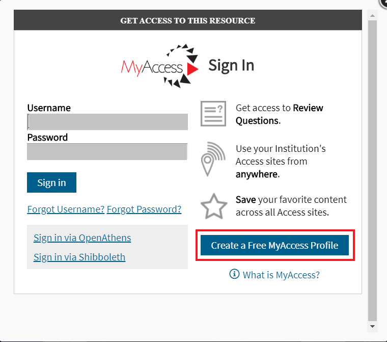 Access Medicine Create a Free MyAccess Profile