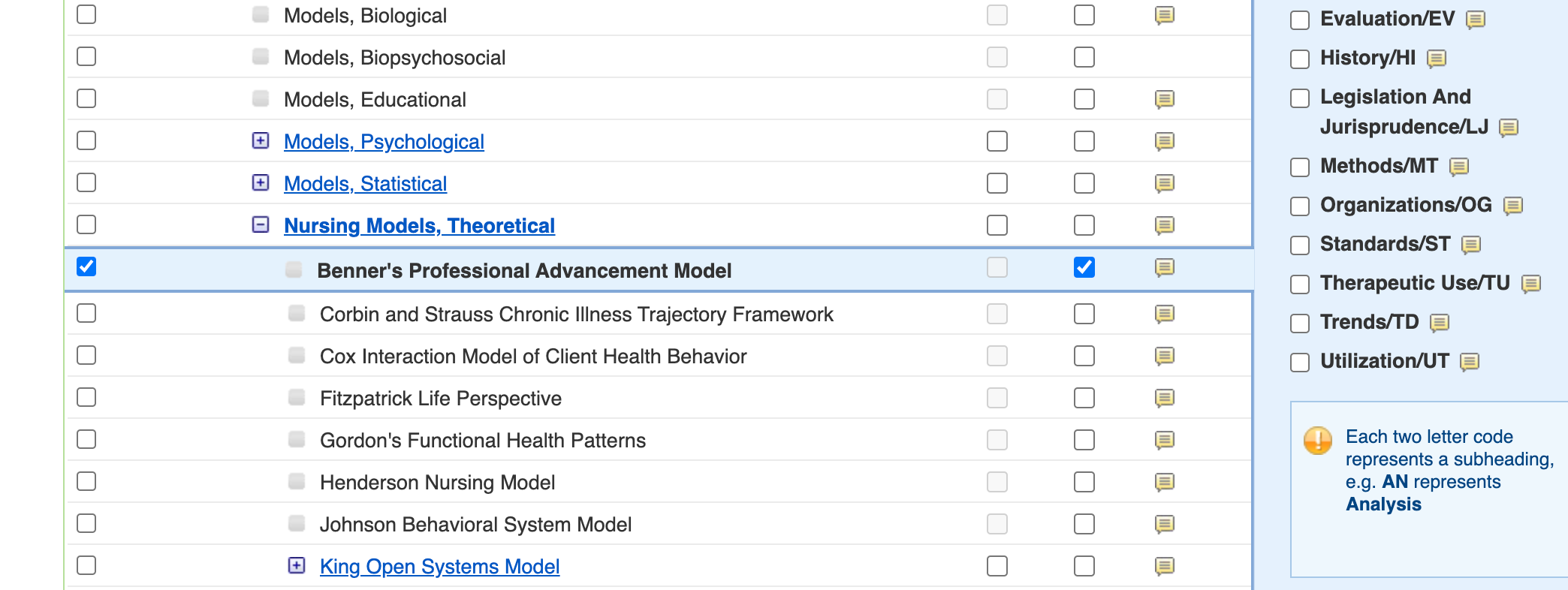 Benner's model selected as major concept in CINAHL Subject Headings list