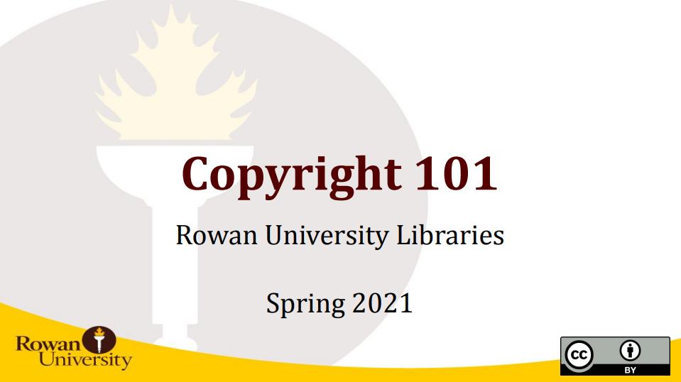 Copyright 101 Workshop Title Slide
