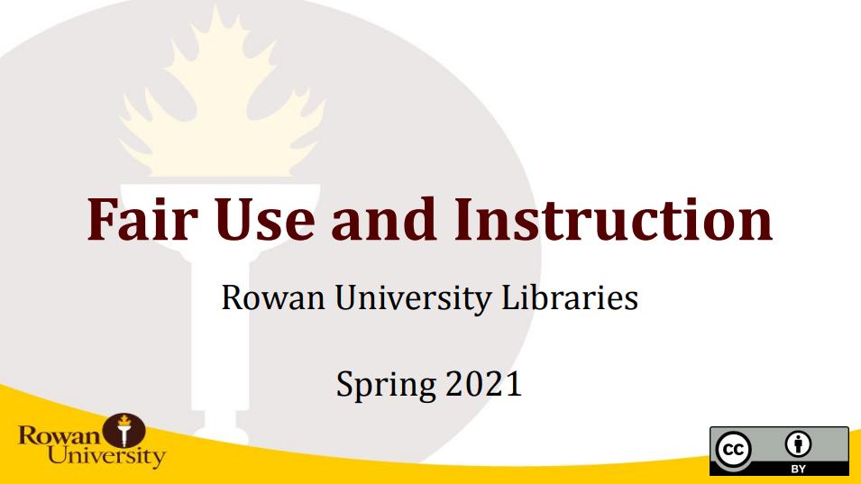 Fair Use and Instruction Workshop Title Slide