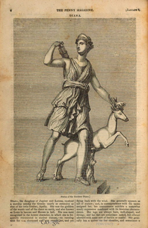 Diana from Penny Magazine 1835