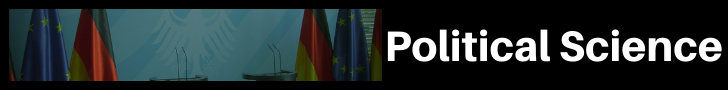 "Four indistinguishable flags with text ""Political Science"""
