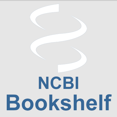 Image of DNA strand above the words NCBI Bookshelf