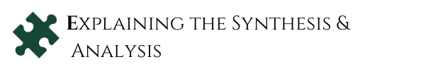 step five of the systematic review process. Explaining the synthesis and analysis