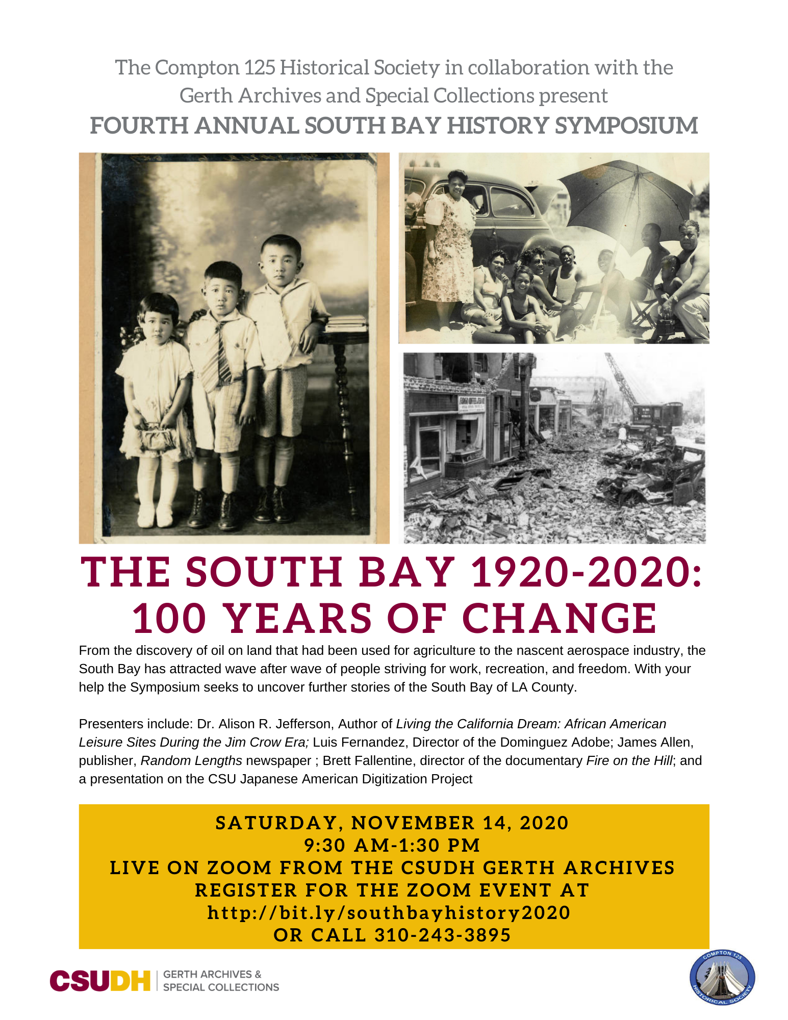2020 South Bay Symposium Flyer