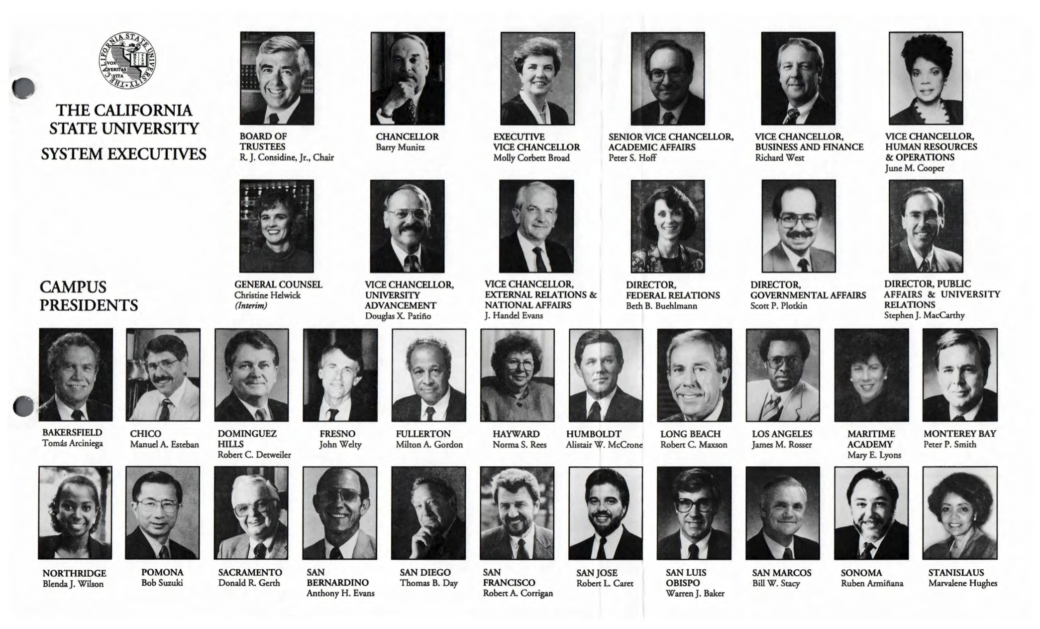 The California State University System Executives Portraits