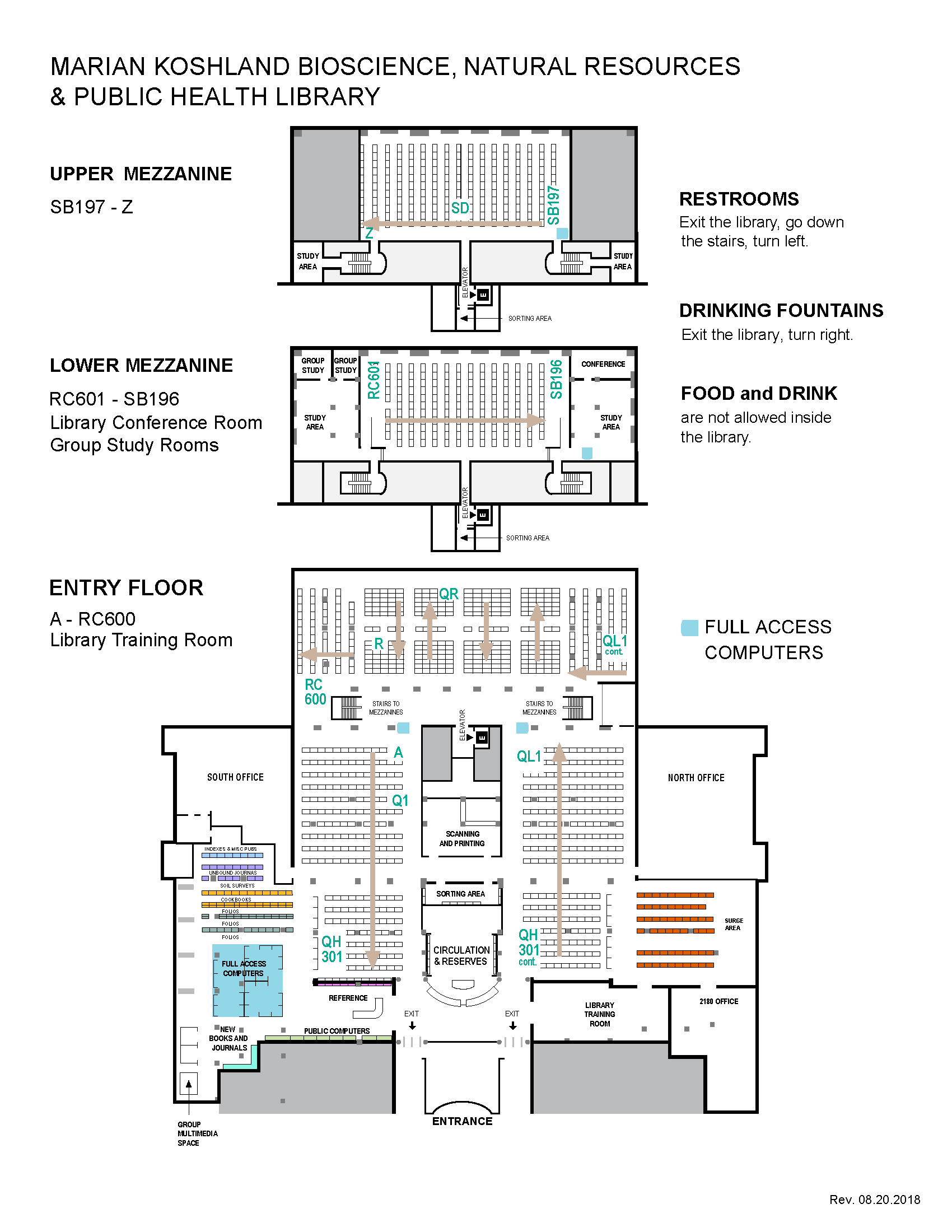 Bioscience Library Floor Plan