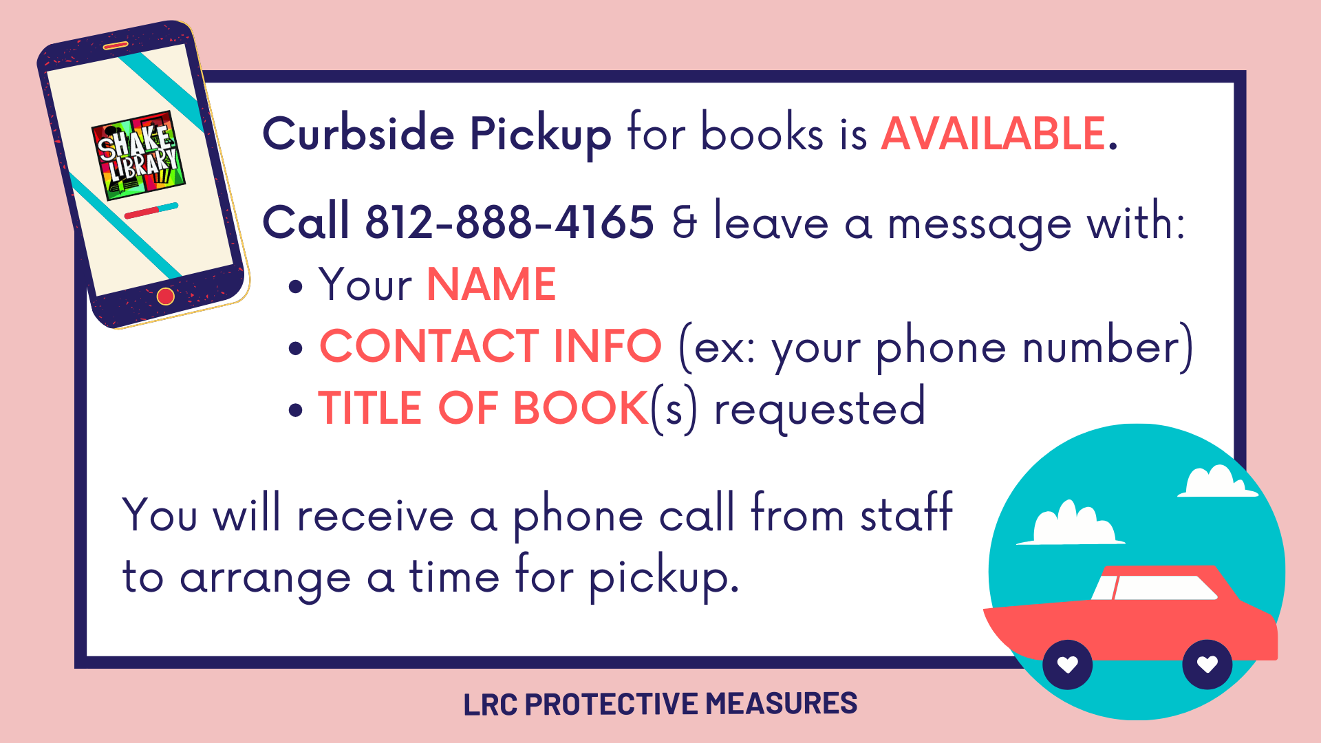 Curbside Pickup Is Available