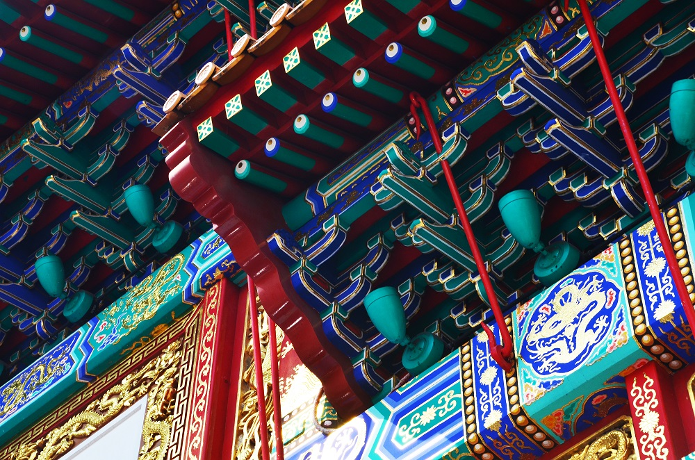 Chinatown entrance gate (architectural detail shot)