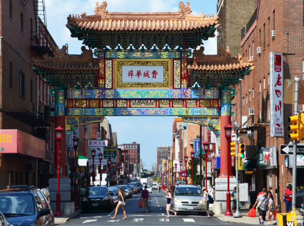 Chinatown entrance gate (street level view)