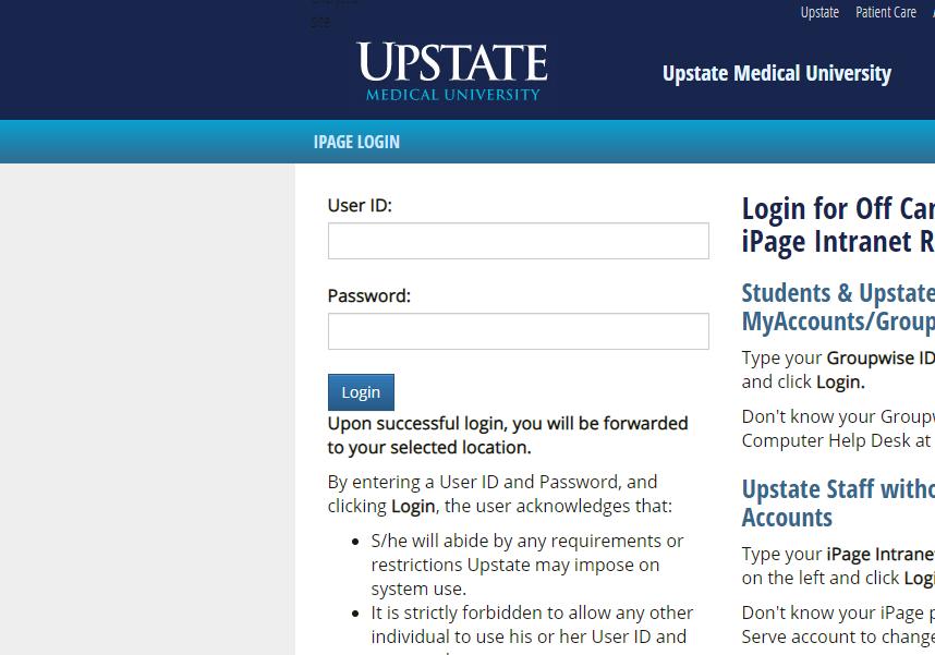 Screenshot of the login screen for ILLiad