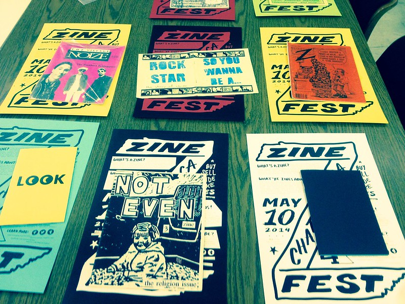Zine table at Chattanooga Zine Fest 2014