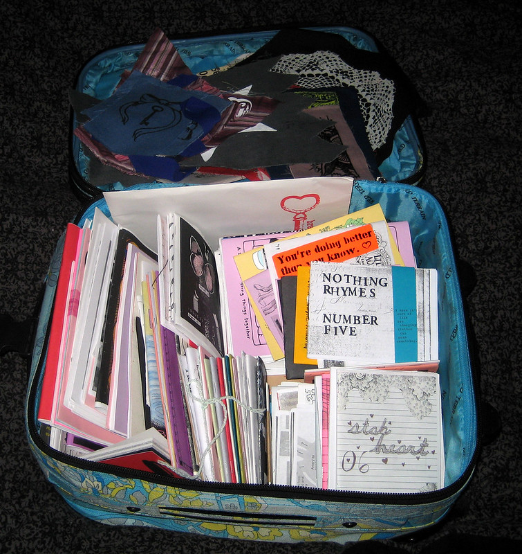 A suitcase full of zines