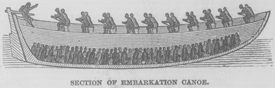 Section of Canoe for Transporting Slaves, Sierra Leone, 1840's (1849) from the Manuscript, Archives and Rare Book Library, Emory University