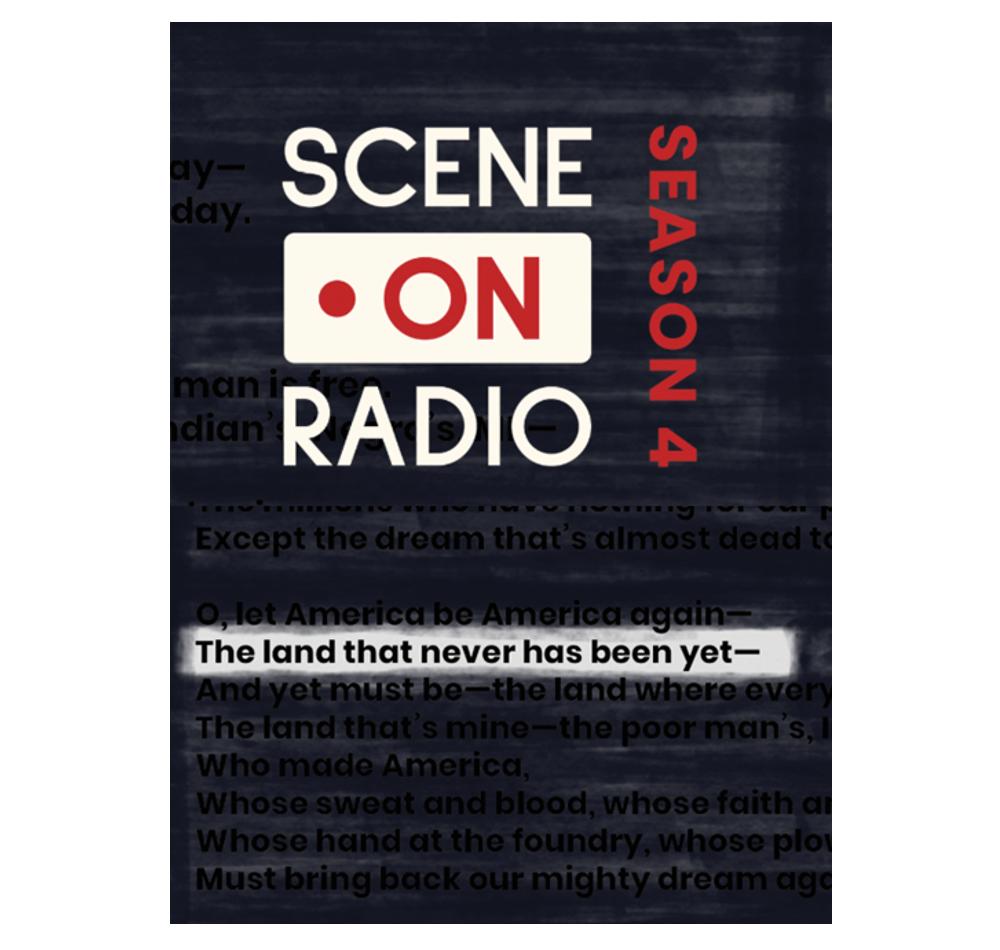 Scene on Radio season 4 podcast image highlighting the words