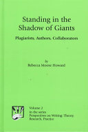 """Book cover """"Standing in the Shadow of Giants: Plagiarism, authors, Collaborators"""""""