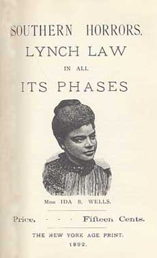 Book cover of Southern Horrors: Lynch Law in All Its Phases  By Ida B. Wells-Barnett