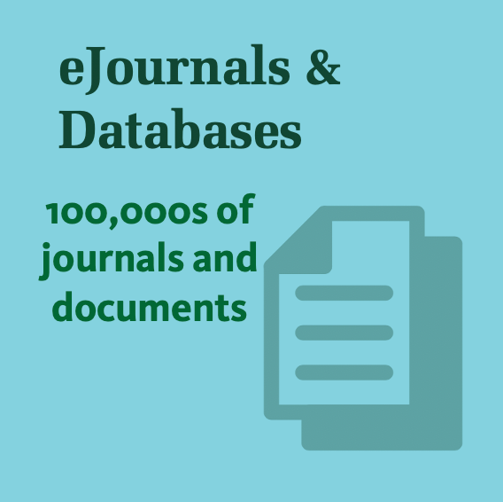 eJournals and databases - click here to access 100,000s of journals and documents