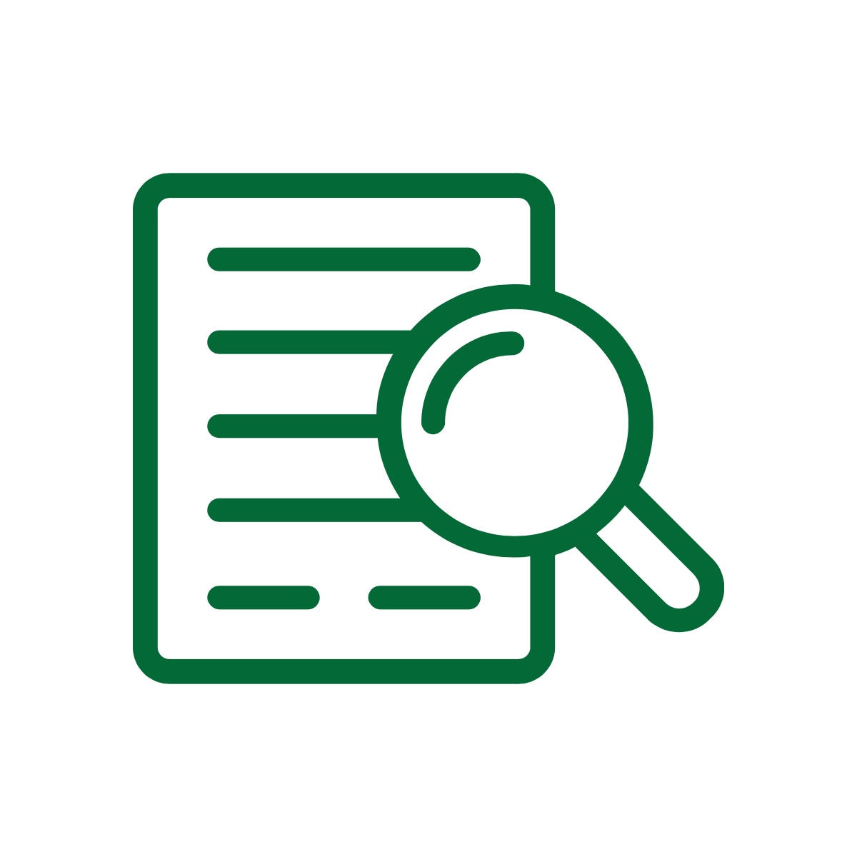 Green document icon from Noun Project