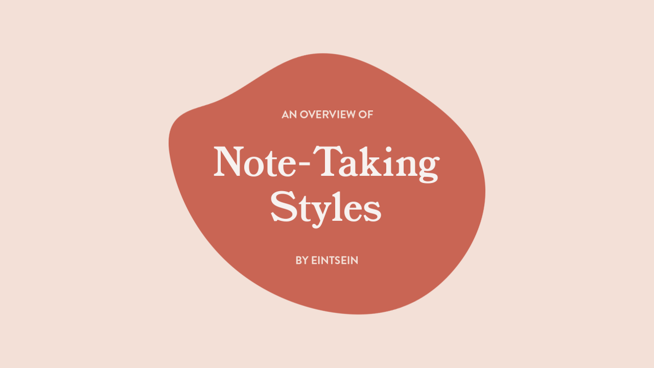 Notetaking Styles graphic and link to Tumblr site
