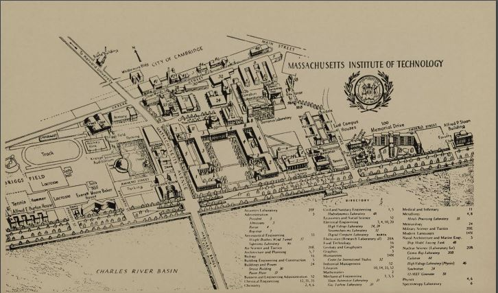 Map of MIT from Social Beaver 1958