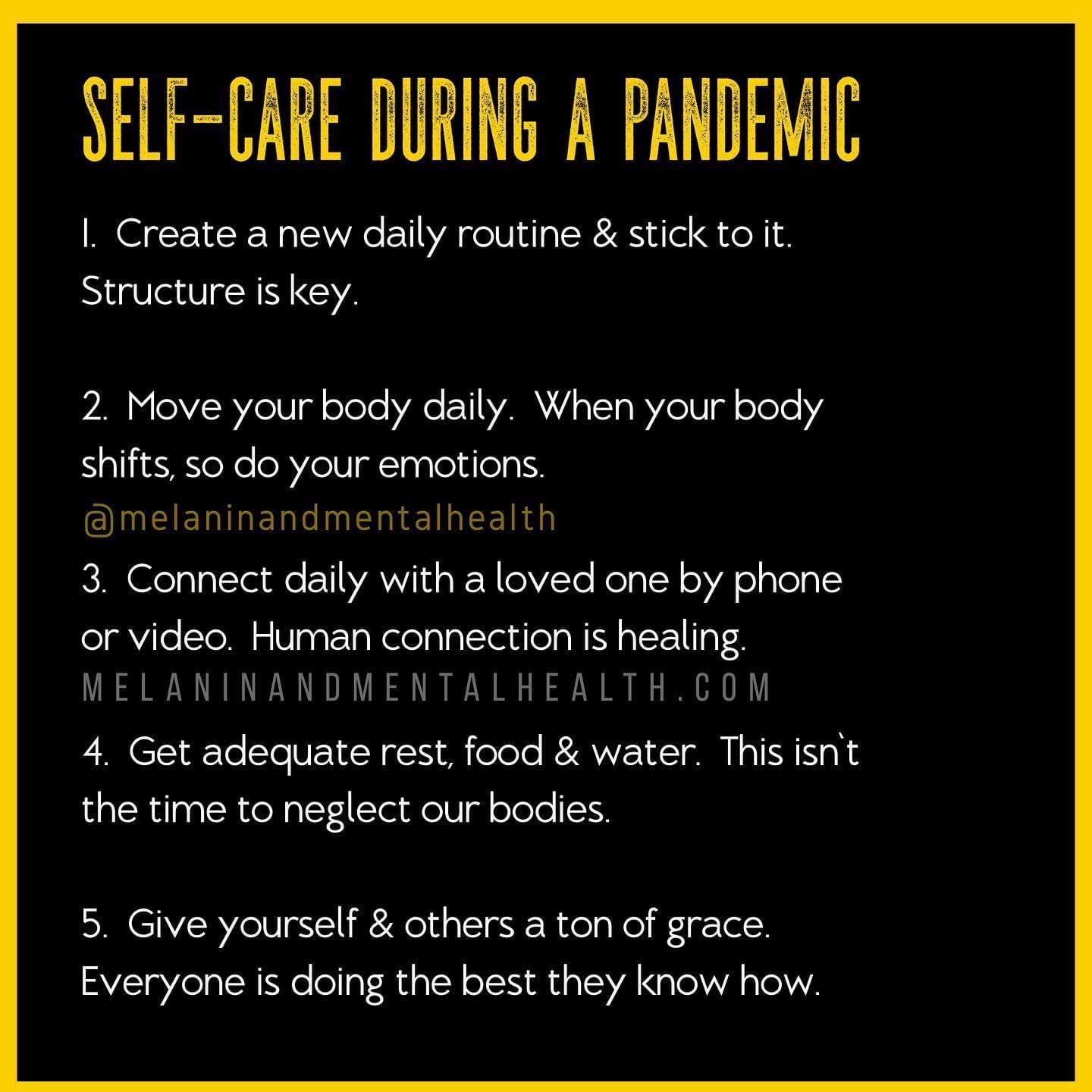 Self-Care During a Pandemic