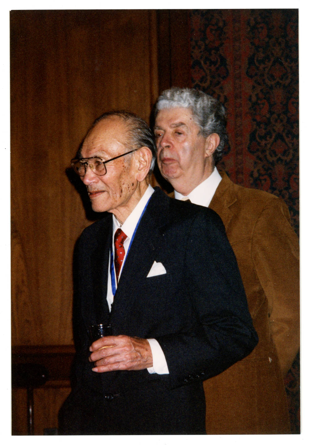 Fred Korematsu and Jack Herzig at the Smithsonian Institute National Museum of American History.
