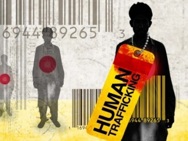 Illustration about human trafficking