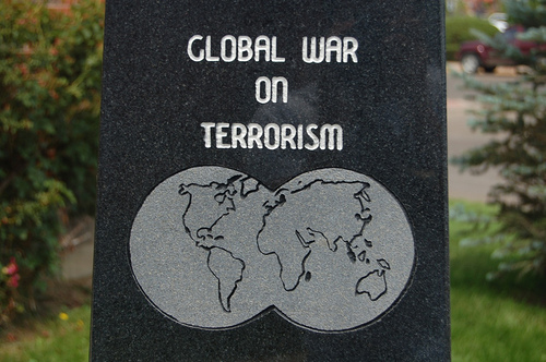 A monument that reads Global War on Terrorism