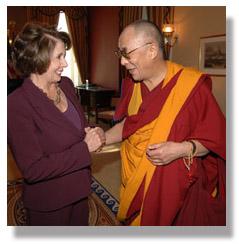 Image of Dalai Lama and Nancy Pelosi