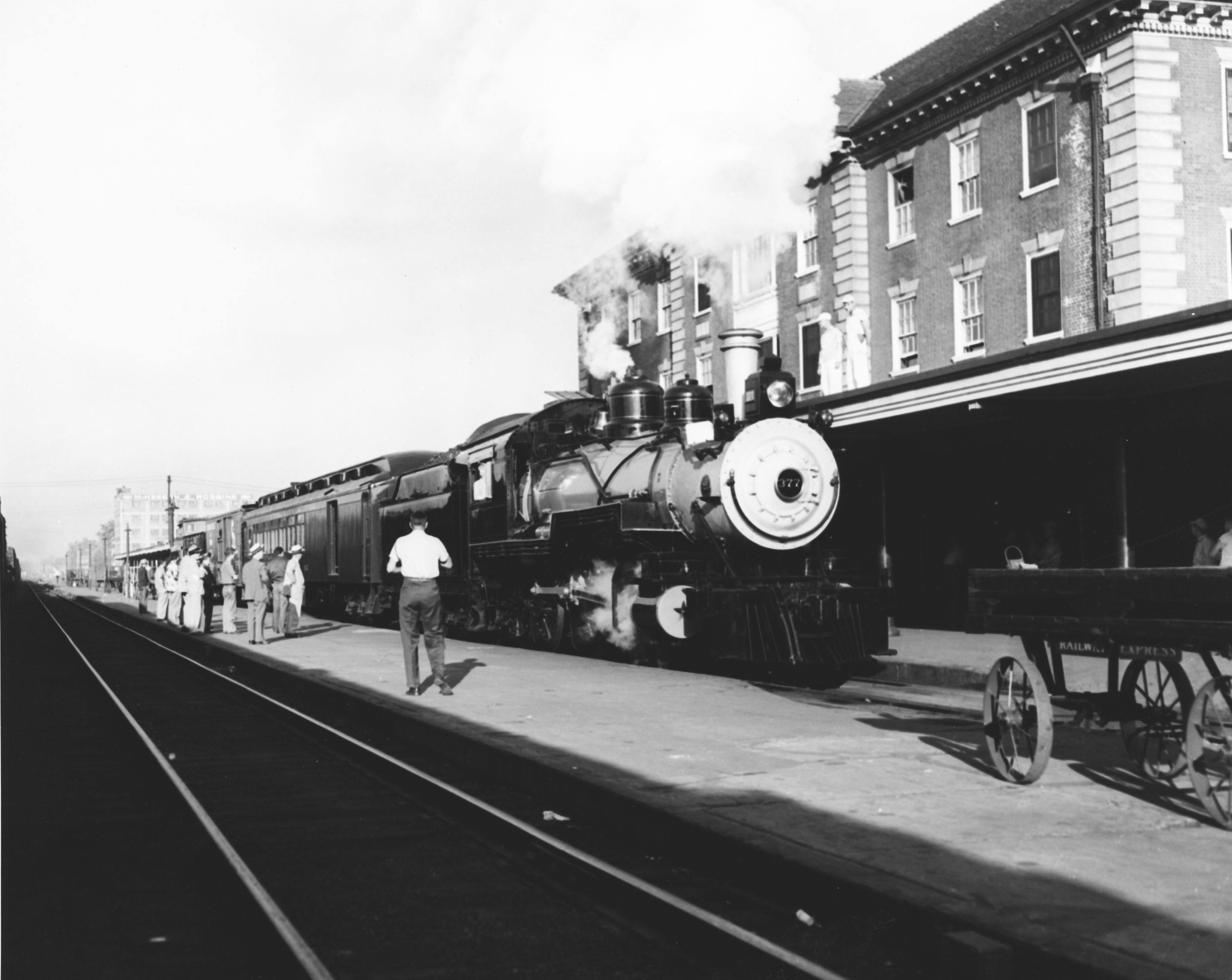 Chesapeake and Ohio Railroad Train at Huntington Station