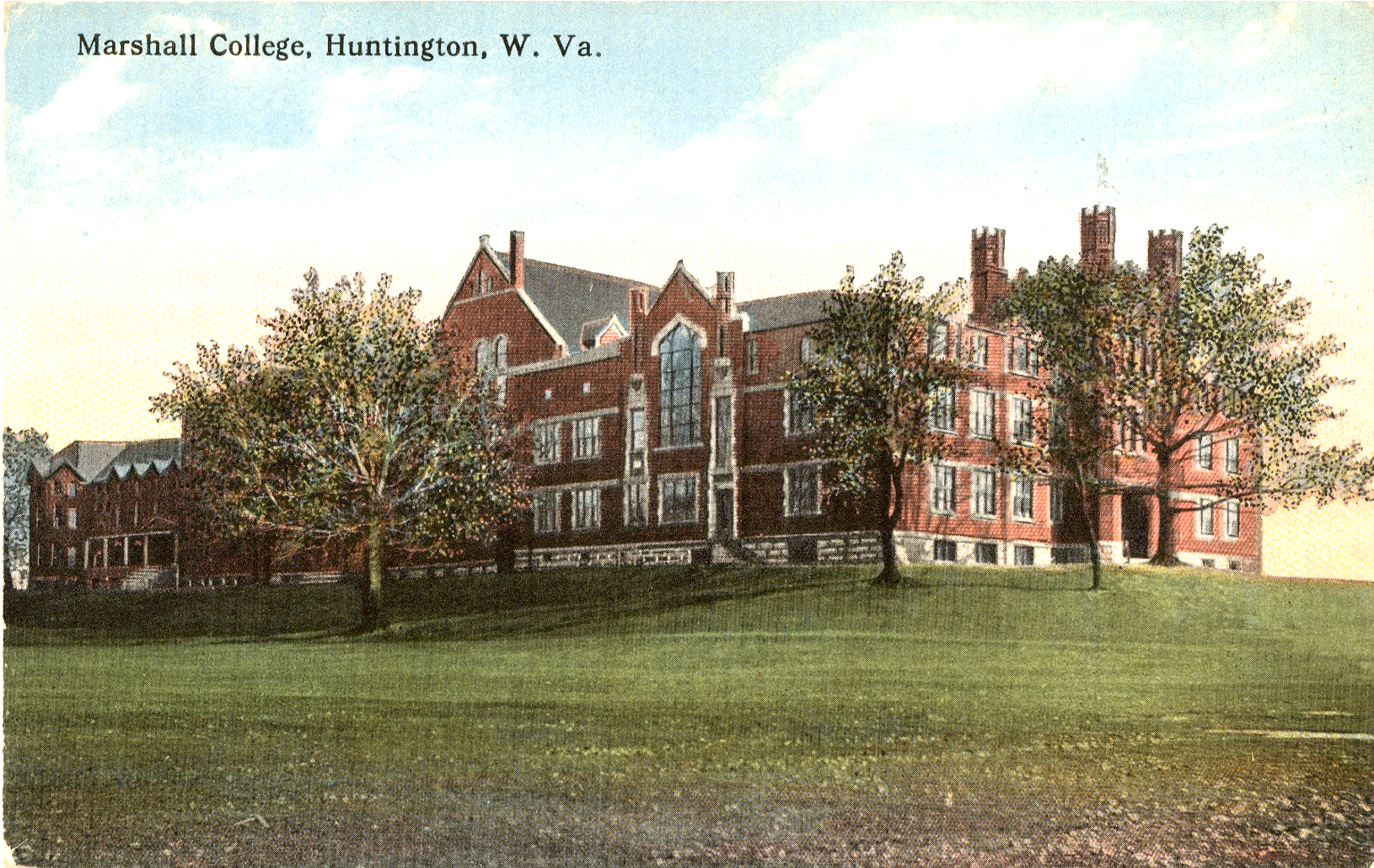Postcard image of Old Main