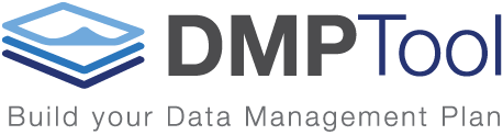 "DMPtool logo blue with caption ""Build your DMP"""
