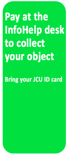 Pay at the InfoHelp service point.  Bring your JCU card.
