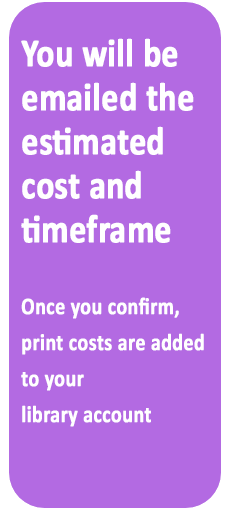You will be emailed an approximate cost and timeframe.  You will need to confirm this.