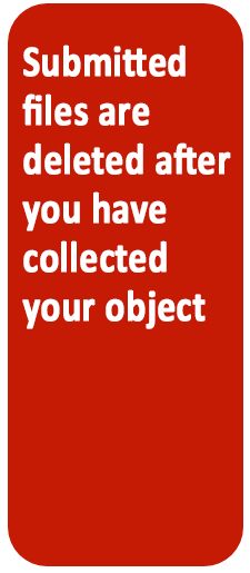 Submitted files are deleted after printing.