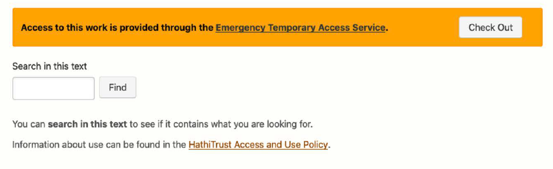 Emergency Access screenshot