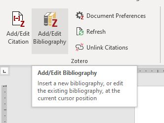 screenshot from MS Word