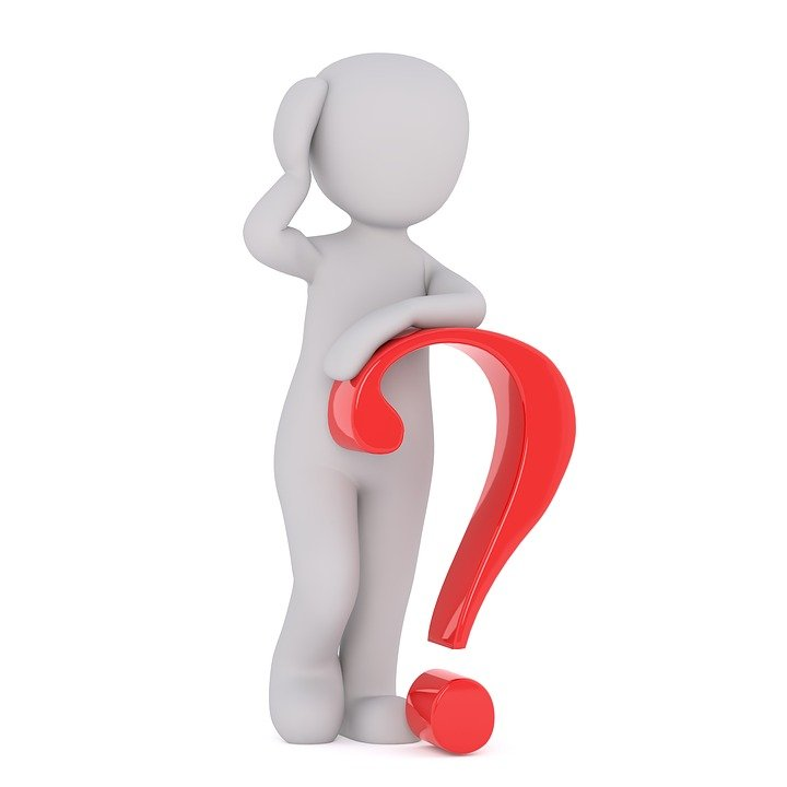 Man Leaning on Question Mark