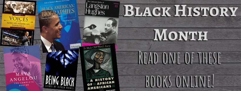 Check out one of these e-books for Black History Month!