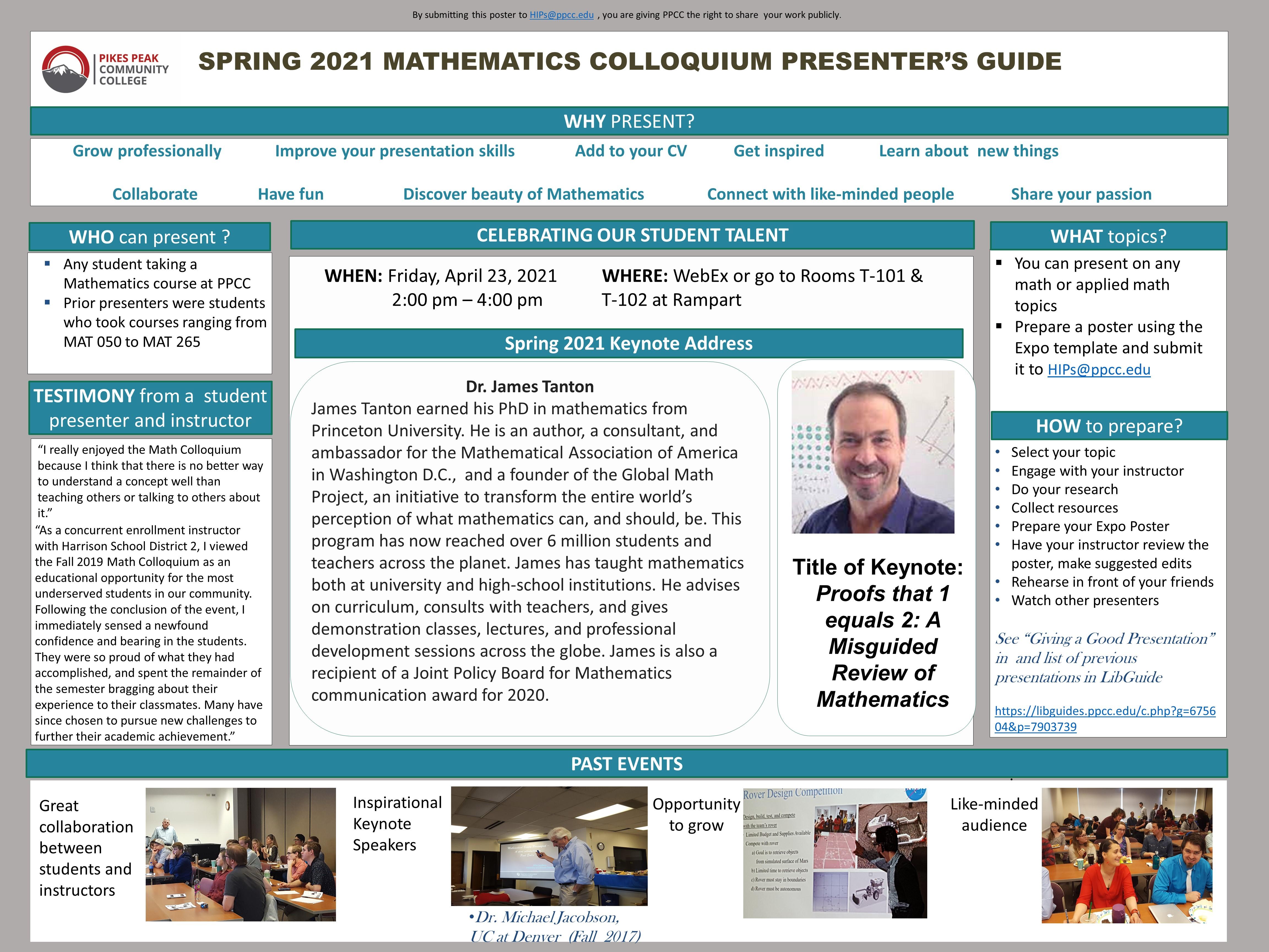 Math Colloquium Presenter's Guide