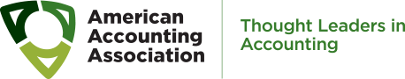 Logo - Text in black and green lettering to the left of a design of three green curved triangles.
