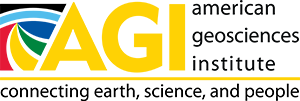 Logo - Text in black lettering next to and underneath the letters AGI in yellow lettering, which is to the right of a shape of colorful blocks.