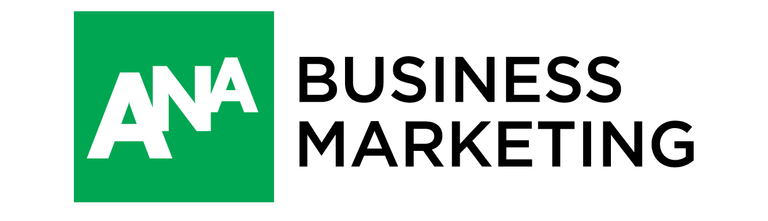 Logo - Text in black lettering next to the letters ANA in white lettering in a green box.